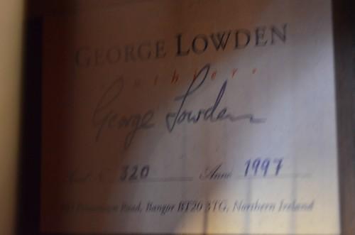 Guitare George Lowden de 1997