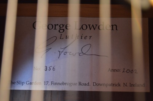 Guitare George Lowden de 2002